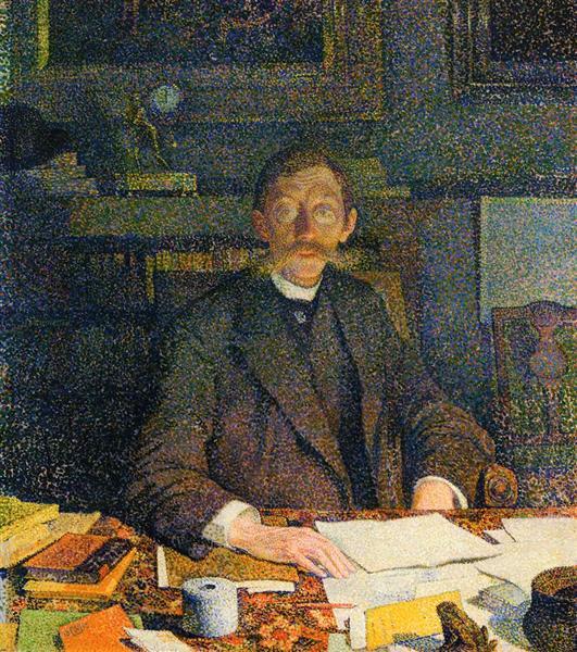 Emile Verhaeren in His Study, c.1892 - Theo van Rysselberghe