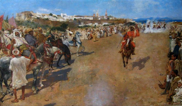 Fantasia Arabe, 1884 - Théo van Rysselberghe
