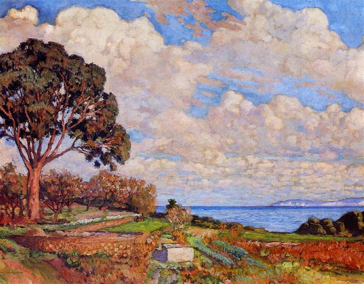 Large Tree near the Sea, 1919 - Theo van Rysselberghe