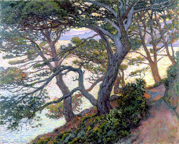 Pines of Rayol, 1912 - Theo van Rysselberghe