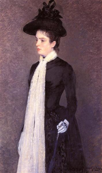 Portrait of a Woman in Black, c.1887 - Theo van Rysselberghe
