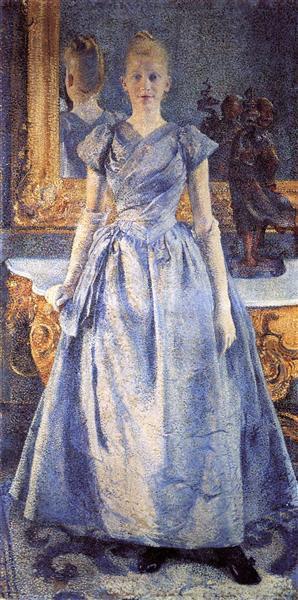 Portrait of Alice Sethe, 1888 - Theo van Rysselberghe