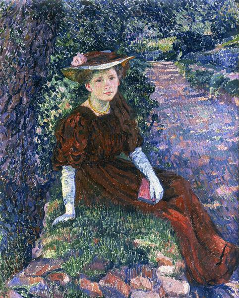 Portrait of Daisy Weber, 1907 - Théo van Rysselberghe