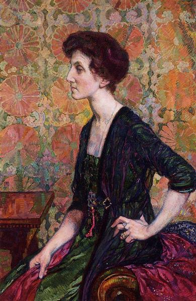 Portrait of Else Lampe Von Quita, 1911 - Theo van Rysselberghe