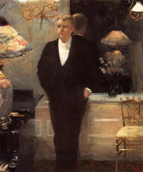 Portrait of Octave Maus, 1885 - Théo van Rysselberghe
