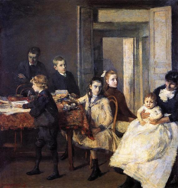 The Children of Francois van Rysselberghe, 1885 - Theo van Rysselberghe
