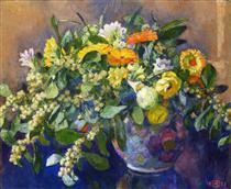 Vase of Flowers - Théo van Rysselberghe