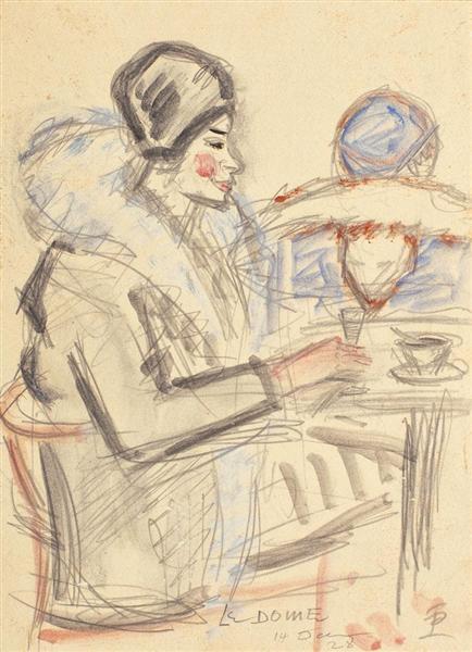 Café du Dome, 1928 - Theodor Pallady