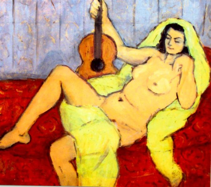 Nude with Guitar - Theodor Pallady