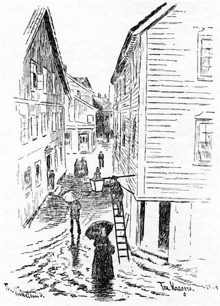 Fra Krageroe - Theodor Severin Kittelsen