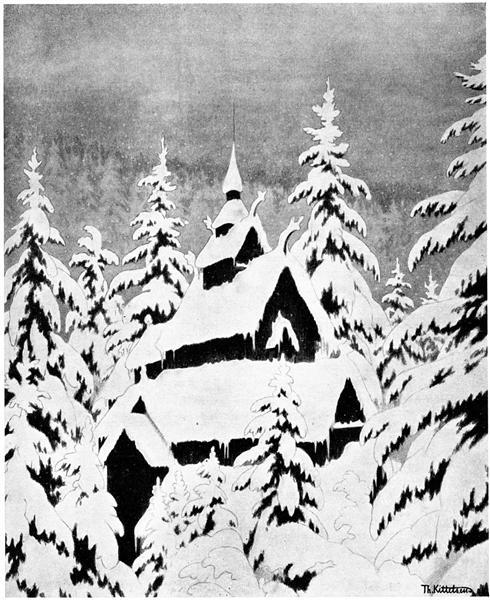 Gamle Kirke Den - Theodor Severin Kittelsen