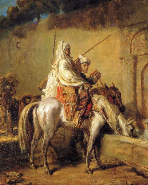 Arabs making their horses drink, 1851 - Theodore Chasseriau
