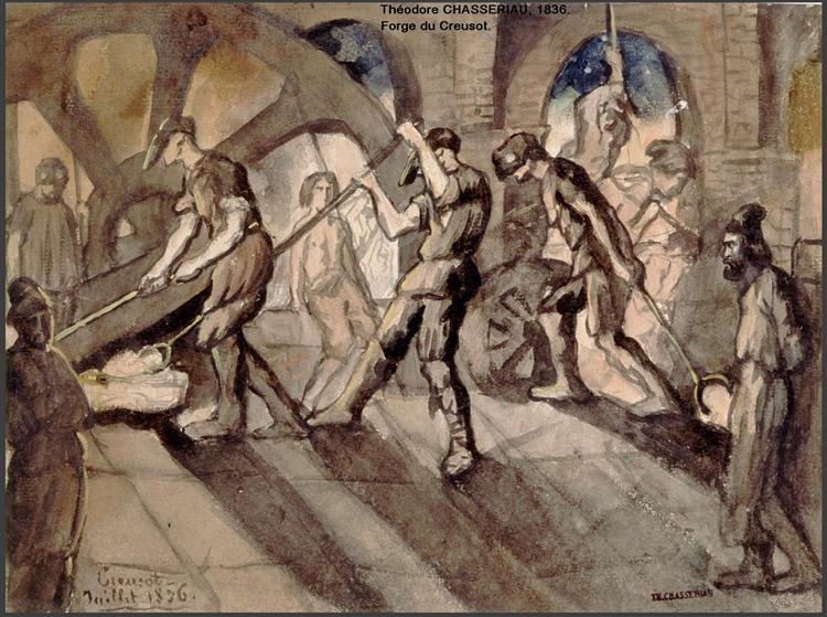 Forge du Creusot, 1836 - Theodore Chasseriau