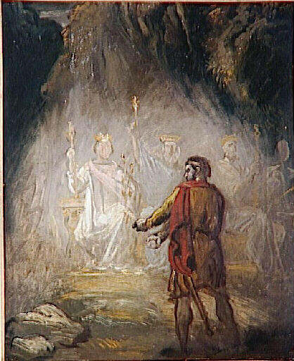 Macbeth, the apparition of the kings, 1856 - Theodore Chasseriau