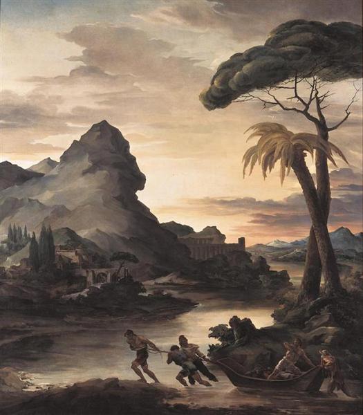 Heroic Landscape with Fishermen, 1818 - Théodore Géricault