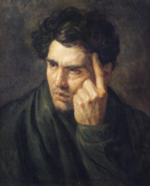 Portrait of Lord Byron - Théodore Géricault
