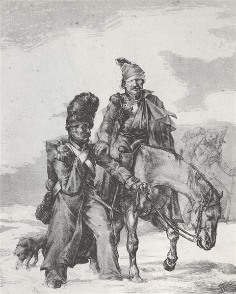The Return from Russia, 1818 - Théodore Géricault