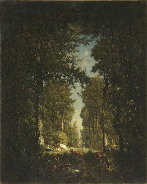 Avenue,ForestIsleAdam, 1849 - Theodore Rousseau