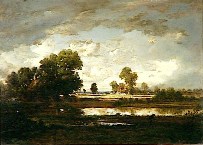 The Pool with a Stormy Sky, 1865 - 1867 - Theodore Rousseau