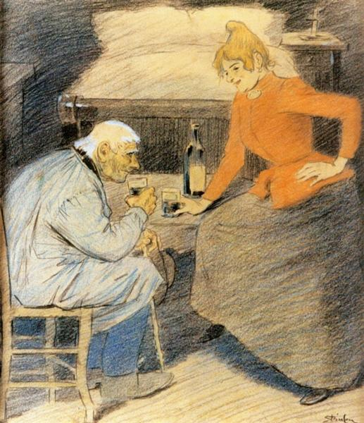 A Little Lift - Theophile Steinlen