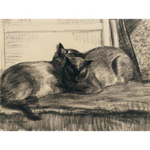Cats Sleeping in the Studio, 1922 - Theophile Steinlen