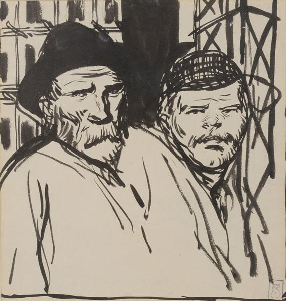 Deux Ouvriers - Theophile Steinlen