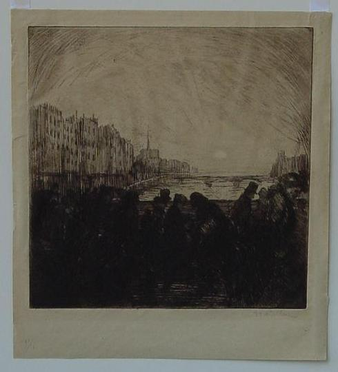 Effet de soleil couchant cropped - Theophile Steinlen