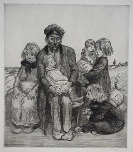 Family etching - Теофиль Стейнлен