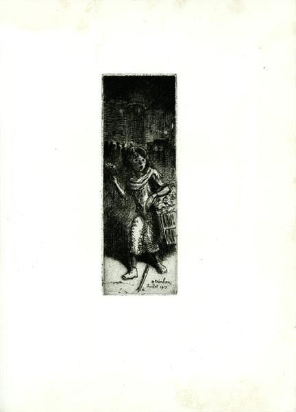 Flower girl - Theophile Steinlen