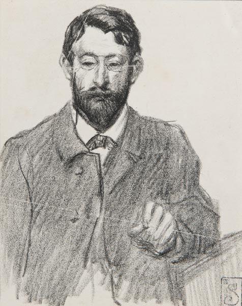 Henri Riviere portrait - Theophile Steinlen