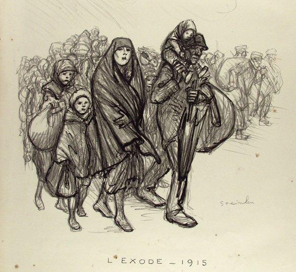 L'Exode, 1915 - Theophile Steinlen