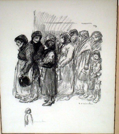 La Soupe Populaire, 1915 - Theophile Steinlen