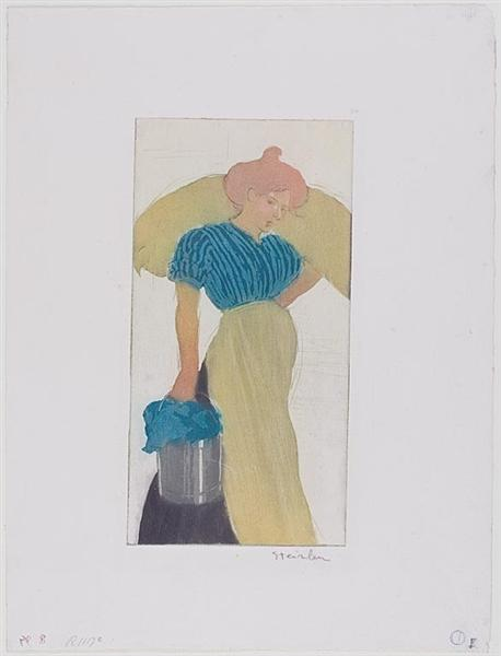 Laundress, 1898 - Theophile Steinlen