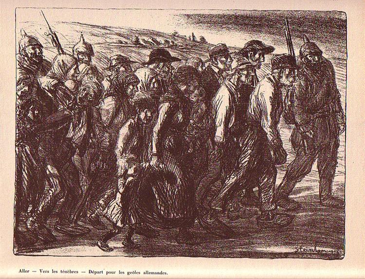 Les Otages Civils, 1915 - Théophile Alexandre Steinlen