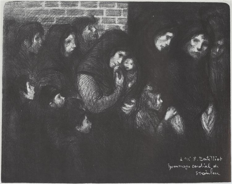 Les Veuves De Courrieres, 1909 - Theophile Steinlen