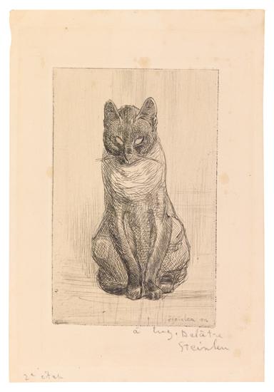 Little Cat Sitting, 1914 - Theophile Steinlen