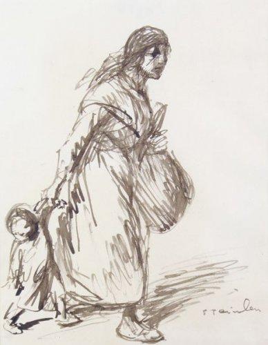 Mere et Enfant - Théophile-Alexandre Steinlen