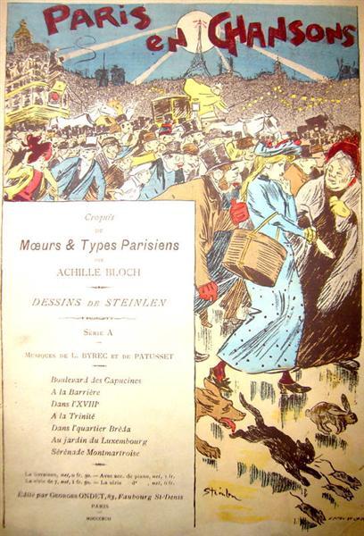 Paris En Chansons, 1892 - Théophile-Alexandre Steinlen