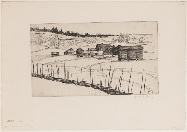 Paysage de Norwege, 1902 - Theophile Steinlen
