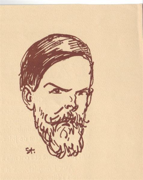 Portrait of Frank Brangwyn, 1923 - Theophile Steinlen