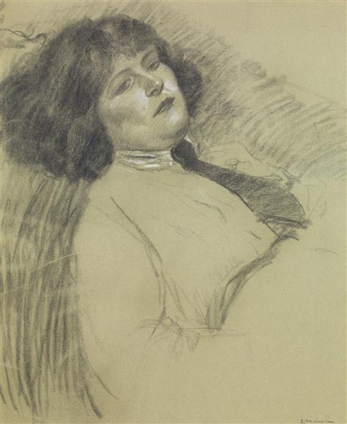 Portrait of the artist's daughter - Théophile-Alexandre Steinlen