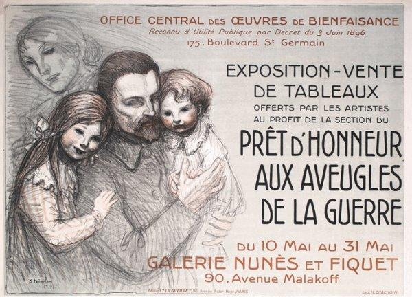 Pret d'Honneur Aux Aveugles, 1917 - Theophile Steinlen