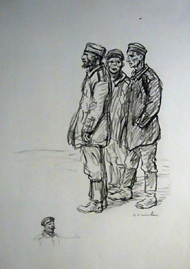 Prisonniers Boches, 1916 - Theophile Steinlen