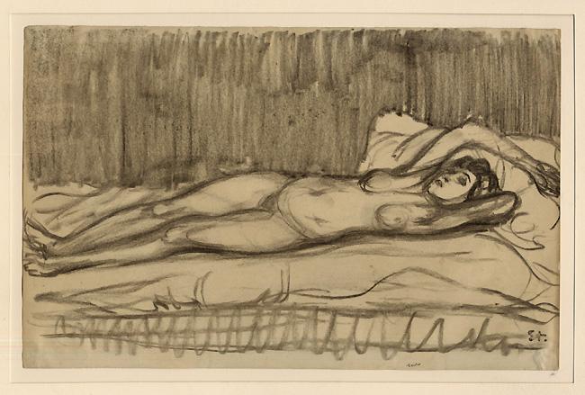 Reclining female nude - Théophile Alexandre Steinlen