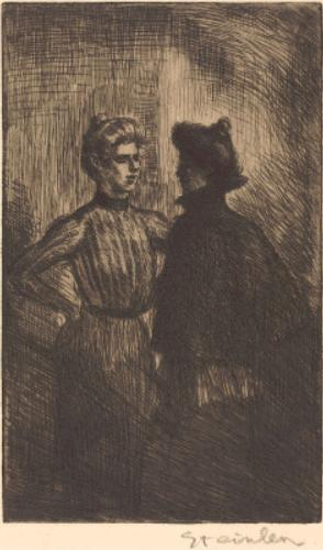 Rencontre, 1902 - Theophile Steinlen