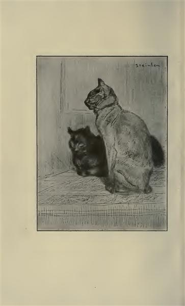 Two cats, 1914 - Theophile Steinlen