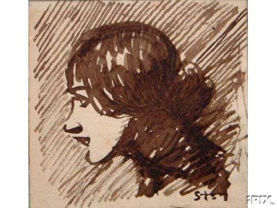Woman portrait - Théophile-Alexandre Steinlen