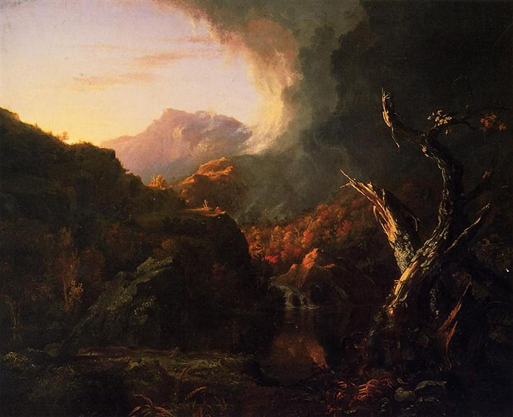 Landscape with Dead Tree, 1828 - Thomas Cole