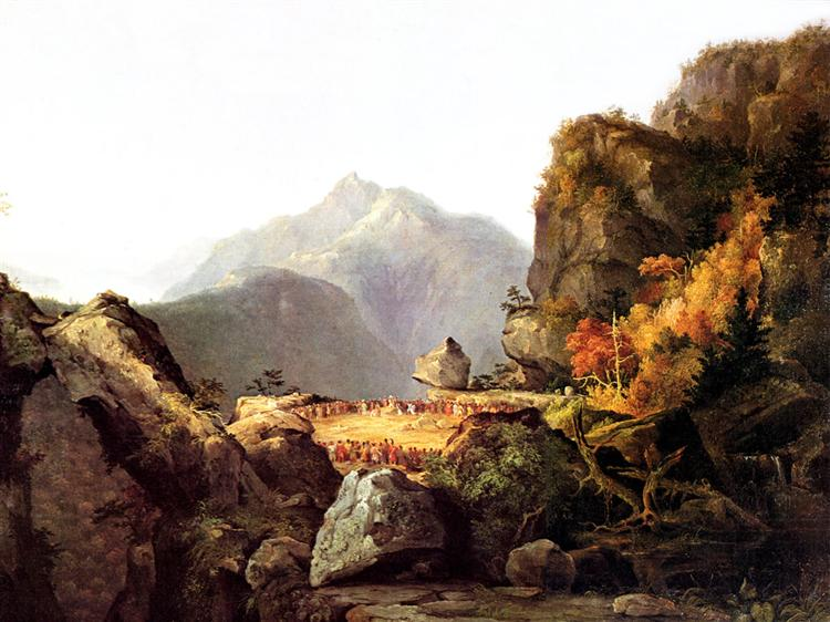 Scene from 'The Last of the Mohicans', by James Fenimore Cooper - Cole Thomas