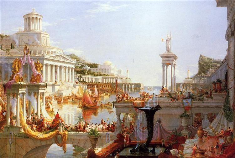 The Course of Empire: The Consummation of the Empire, 1836 - Thomas Cole